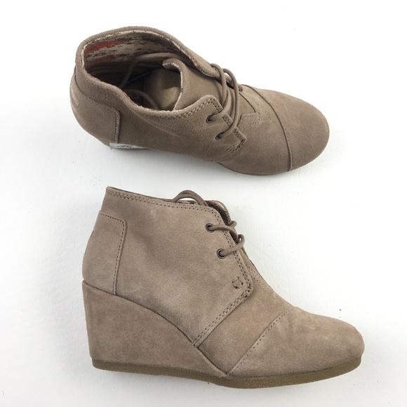 59cb5e532760 TOMS Women Desert Wedge Boots DR01895